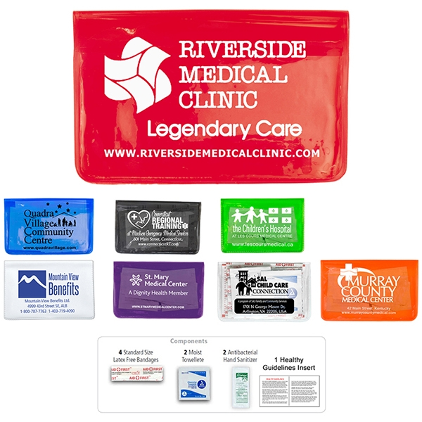 9 Piece Stay Clean First Aid Kit