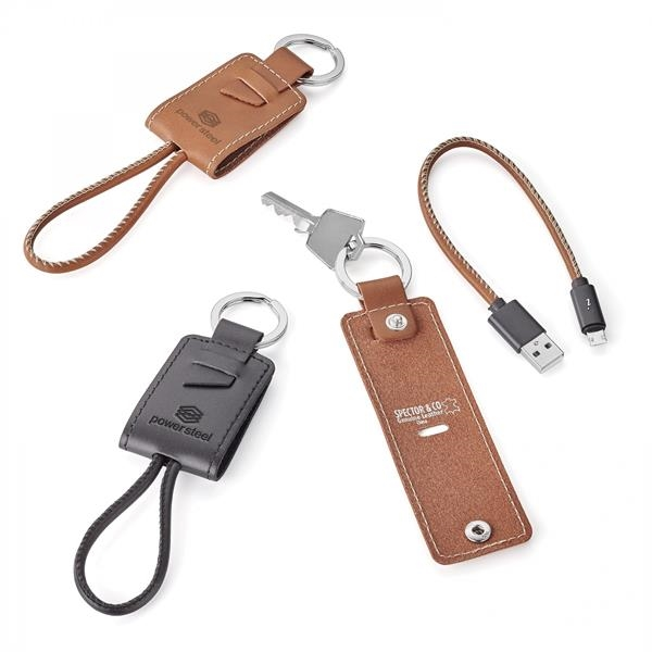 NATHAN GENUINE LEATHER KEY RING/CHARGING KIT