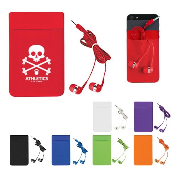 Attachable Card and Earpiece Holder