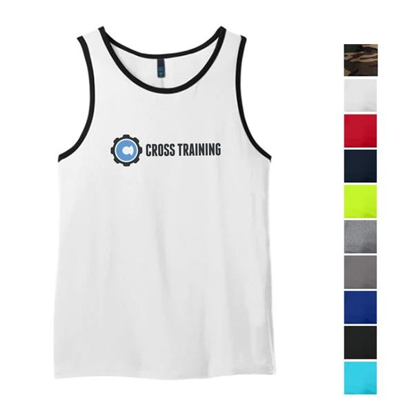 District® Male Youth's Cotton Ringer Tank Top