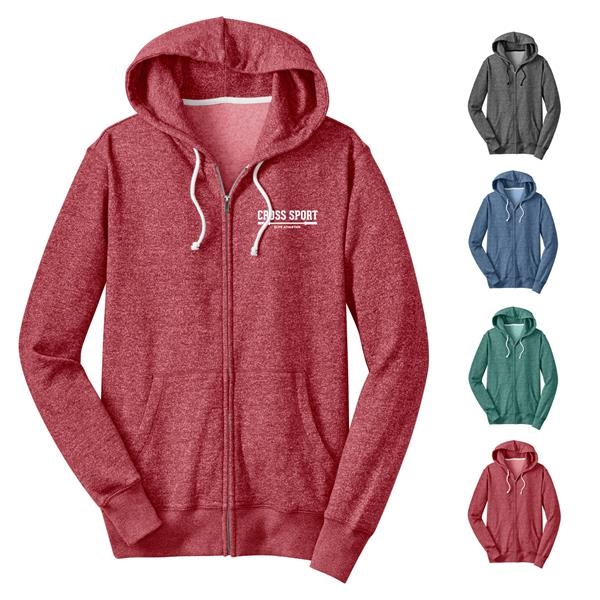 District® Male Youth's Marled Zippered Hoodie
