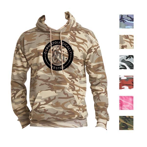 Comfortable Camo Hooded Sweatshirt