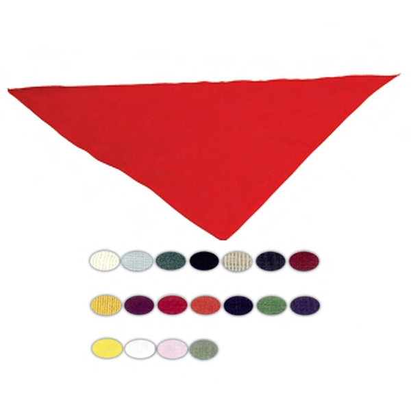 "Blank, Triangular Bandanna, 20"" X 20"" X 30"" Photo"