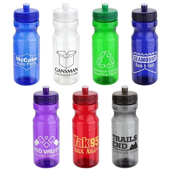 Cycler 24 oz PET Eco-Polyclear™ Bottle with Push-Pull Lid