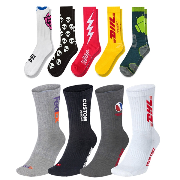 Custom Combed Cotton Athletic Sock - Knit-In