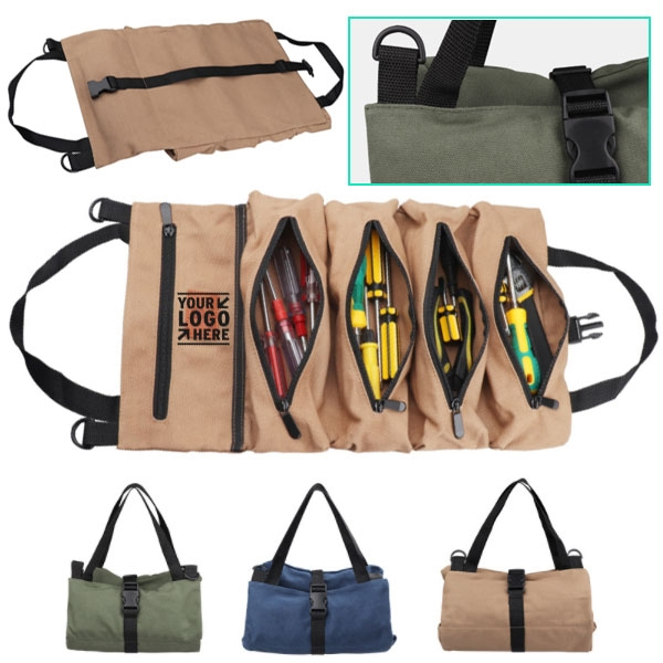 Rolling Canvas tool bag
