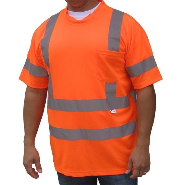 3M Safety Orange ANSI Class 3 Jersey Mesh Safety T-shirt
