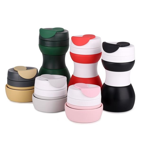 16OZ Folding Silicone Coffee Cup Lightweight Pocket Cup