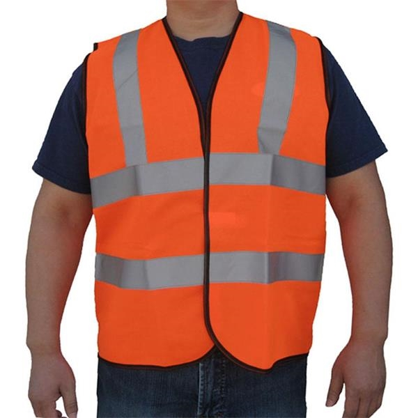 ANSI 107-2015 Class 2 Safety Vest w/ Hook & Loop Closure