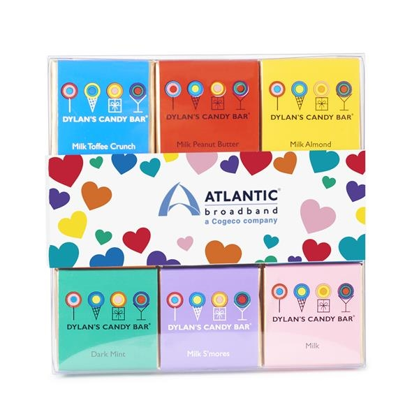 Valentine's Day 18 Piece Chocolate Square Pack with Sleeve
