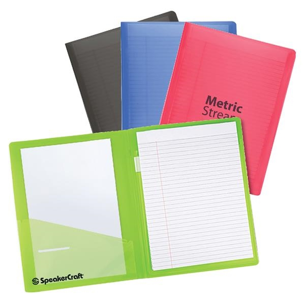 Color-Pro Letter Size Folder with Notebook