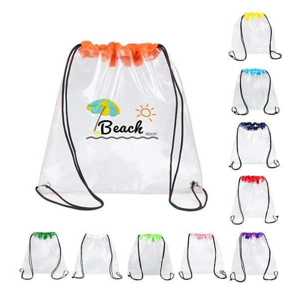 Multi-Functional Waterproof PVC Drawstring Backpack