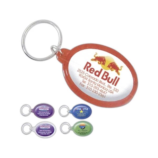 Oval Logo Dome Keychain