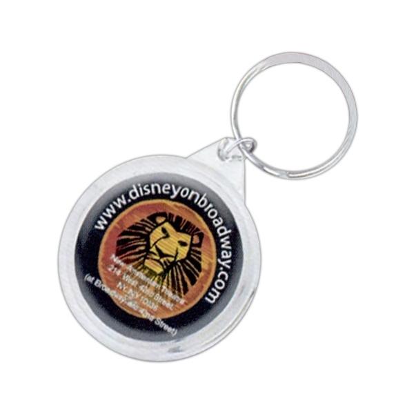 Round Domed Keychain