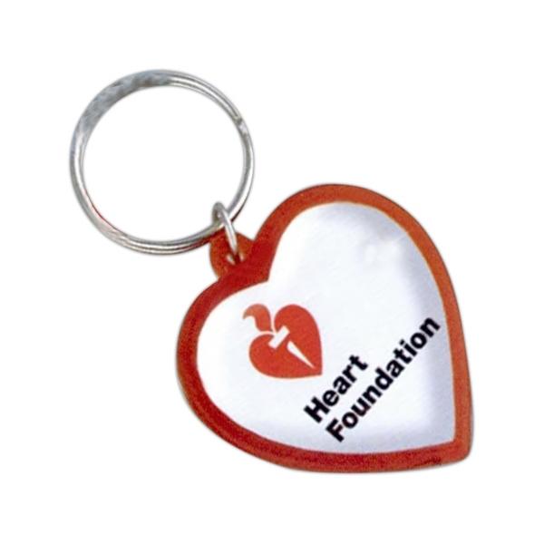 Heart Logo Dome Keychain