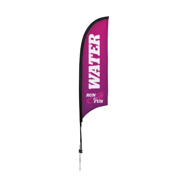 7' Premium Razor Sail Sign, 1-Sided, Ground Spike