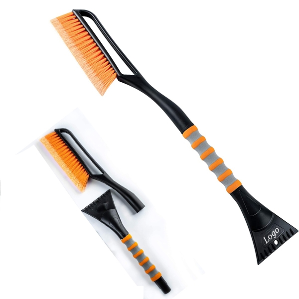 Snow Brush and Detachable Ice Scraper with Foam Grip
