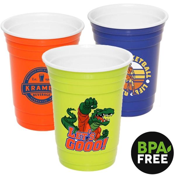 16 oz. Double Wall Stadium Cup w/ Custom Logo BPA Free Mugs