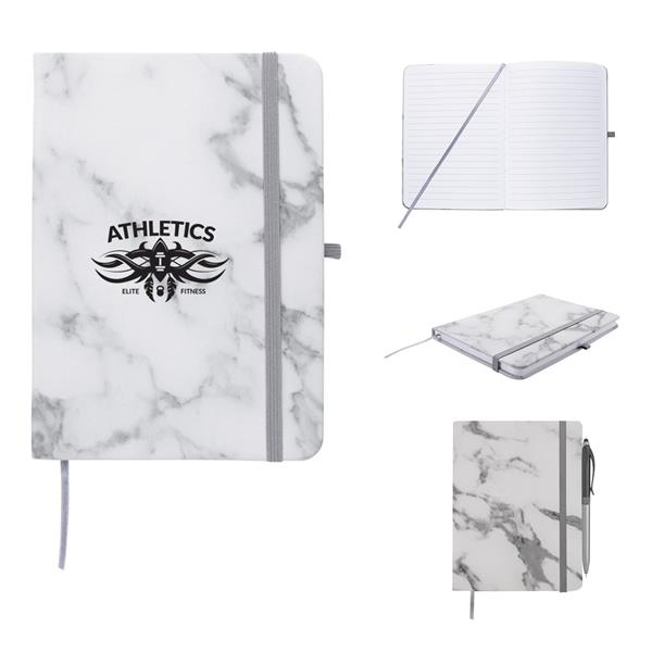 Marble-Inspired Notebook