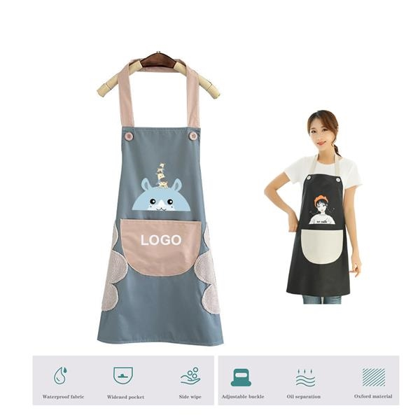 Advertising Bib Apron With And Side Wipe Towel