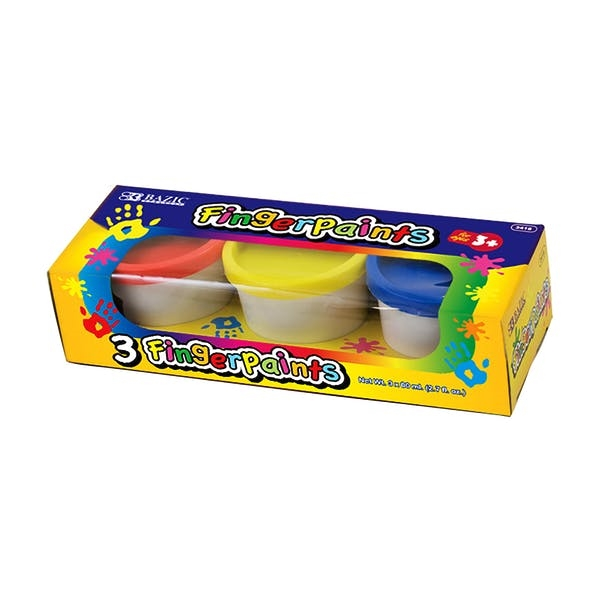 BAZIC Assorted Color 80ml Finger Paint 3Pack