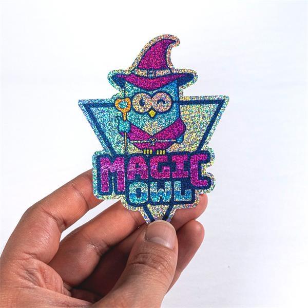 Custom Die-Cut Glitter Stickers