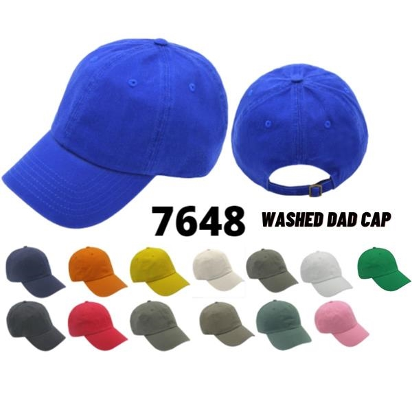 Dad Cap Washed Chino Twill 6 Panels Cap, Unstructured