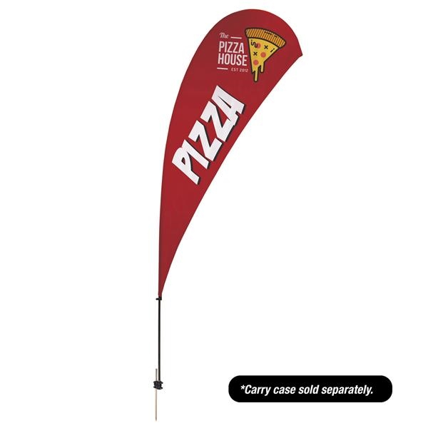 13' Value Teardrop Sail Sign - 2-Sided with Ground Spike