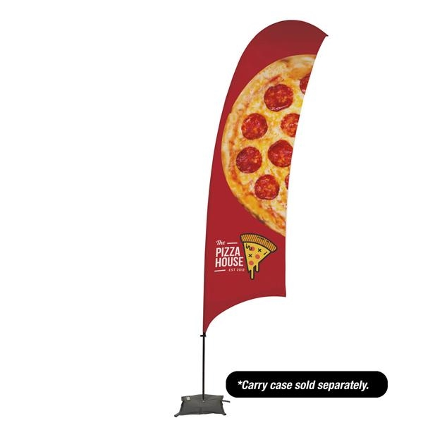 15' Value Razor Sail Sign - 1-Sided with Cross Base