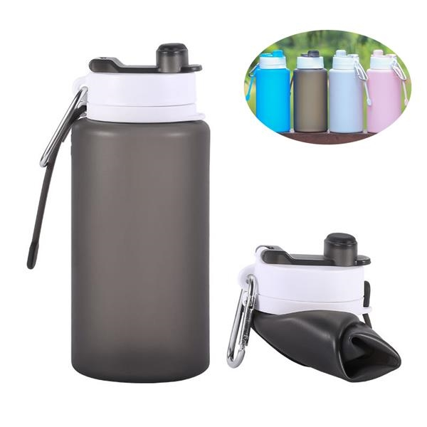26oz Folding Water Bottle With Carabiner