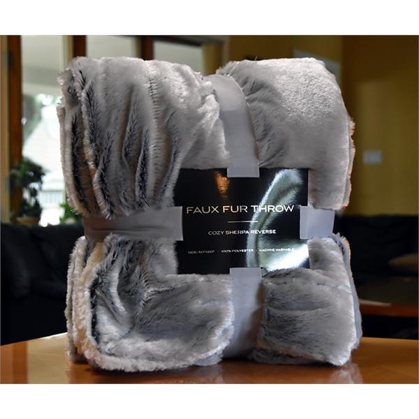 Luxury Faux Fur Fleece Blanket