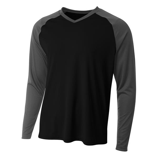 A4 Men's Long Sleeve Strike Raglan T-Shirt