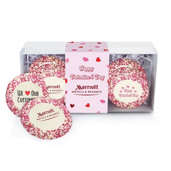 Sugar Cookie Gift Box - Valentine's Day Nonpareil Sprinkles