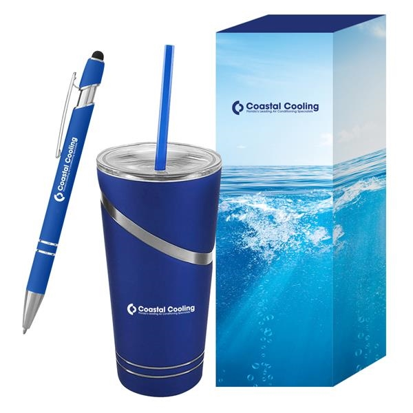 Incline Tumbler & Pen With Custom Box