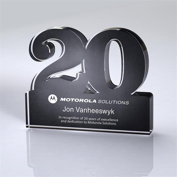 Freestanding 20 Year Anniversary Award