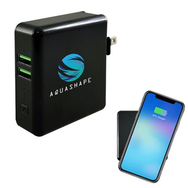 3-In-1 Wireless Super Charger With Wall Adapter