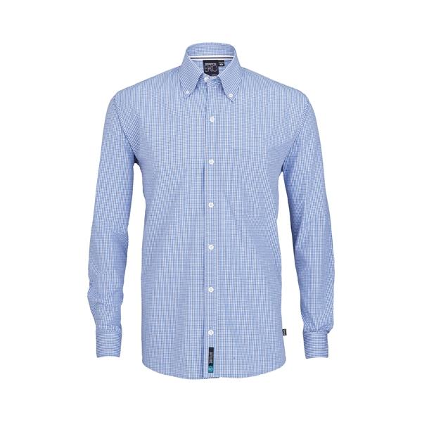 ARIA Men's Long Sleeve Mini Check Eco Dress Shirt