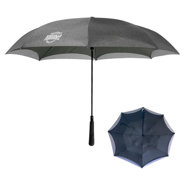 "48"" Arc Heathered Inversion Umbrella"