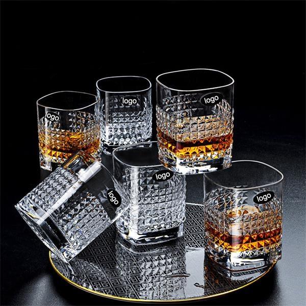 12.8 oz crystal whiskey glasses glassware