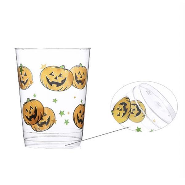 10oz Halloween Plastic Cup with Pumpkin Pattern