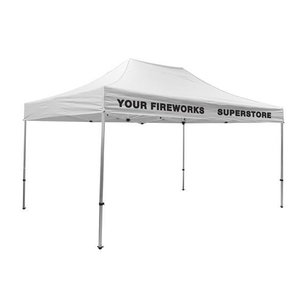 15' Premium Tent Kit (Imprinted, 2 Locations)