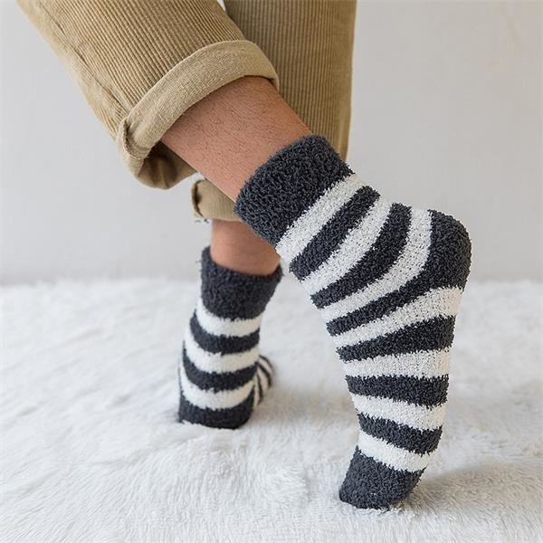 Custom Winter Warm Super Soft Men Fleece Fluffy Socks