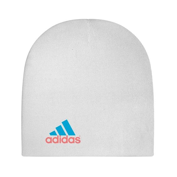 White Beanie with Dye-Sublimated Imprint