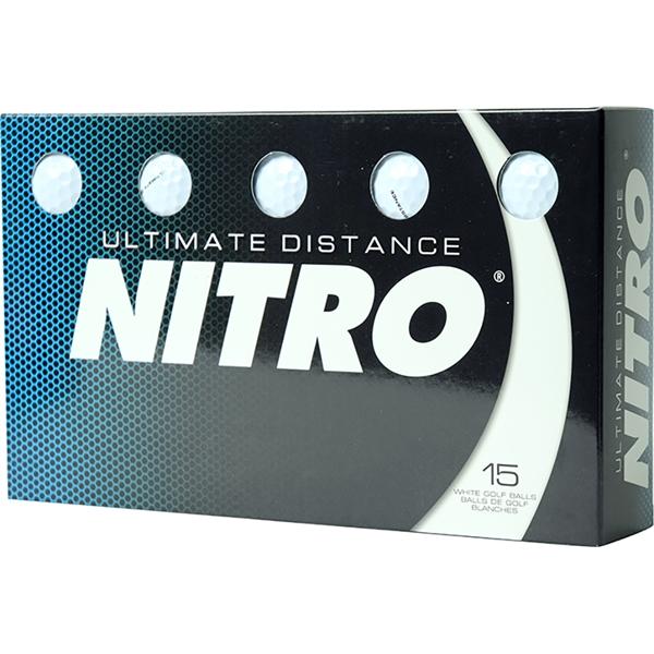 Nitro Ultimate Distance Golf Balls 15-Ball Pack