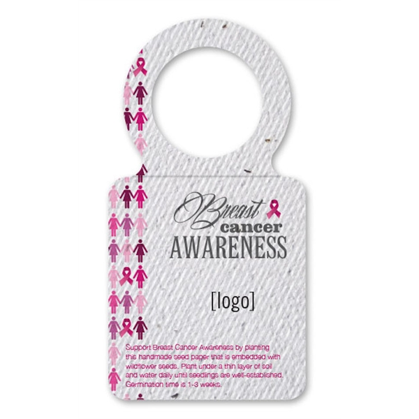 Breast Cancer Awareness Seed Paper Bottle Necker