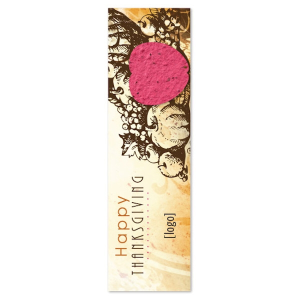 Thanksgiving Seed Paper Shape Bookmark