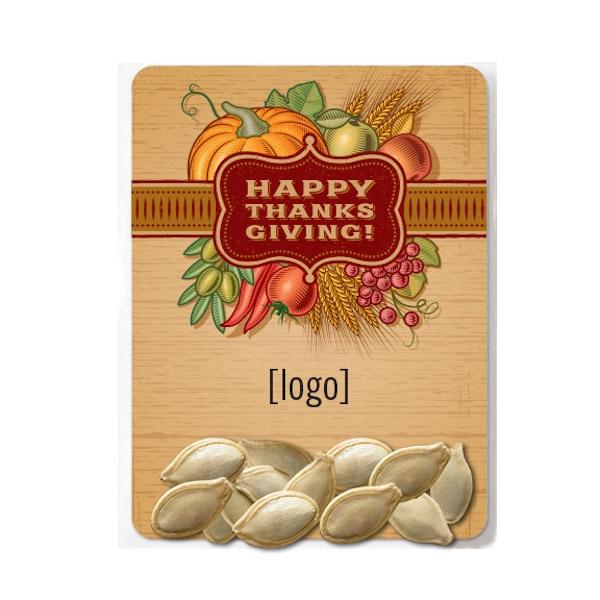 Thanksgiving Pumpkin Seed Packet