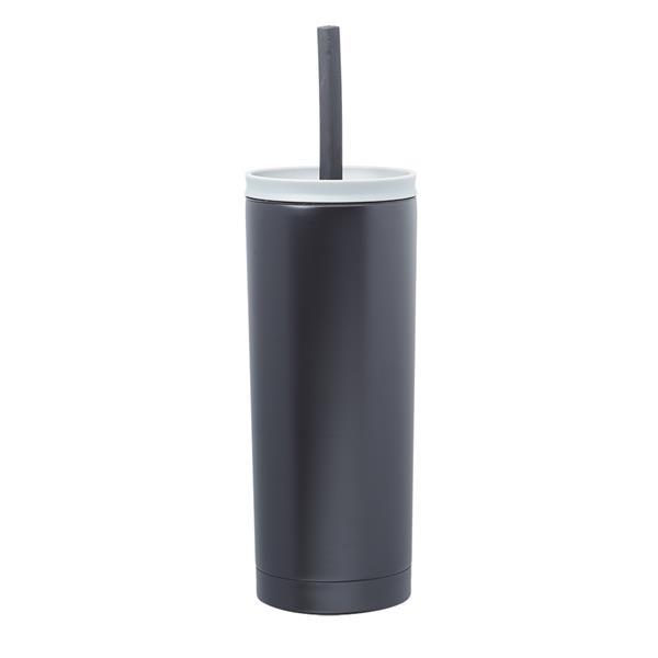 19 oz. Winslow Stainless Steel Mug with Straw