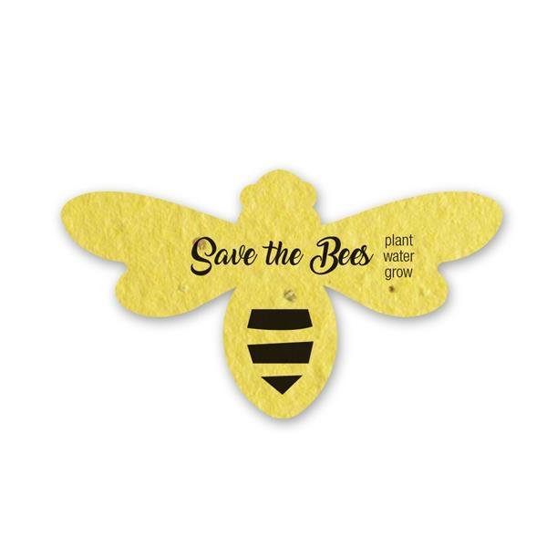 Printed Seed Paper Bee Shape