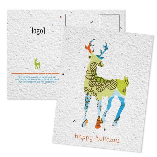 Holiday Seed Paper Mailable Postcard